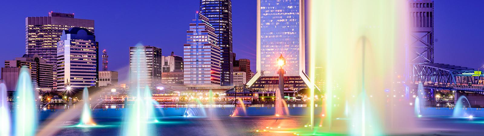 Friendship Fountain in Jacksonville